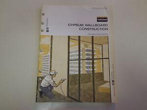 Image Is Loading Gold Bond Gypsum Wallboard Catalog 1969 Asbestos Litigation