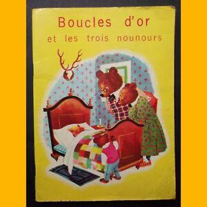 BOUCLES-D-039-OR-ET-LES-TROIS-NOUNOURS-Editions-Rene-Touret-Annees-1960