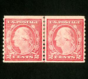 US-Stamps-453-VF-Line-pair-OG-H-Scott-Value-675-00