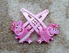 Peppa Pig Girls Hair Clips x 2 - Princess Peppa with Ballet Dress, Brand New