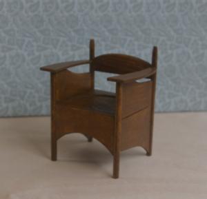 12th scale dolls house miniature Charles Rennie Mackintosh Armchair