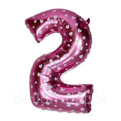 XL 75cm número número globo folienballon cumpleaños aniversario decorativas rosa pink