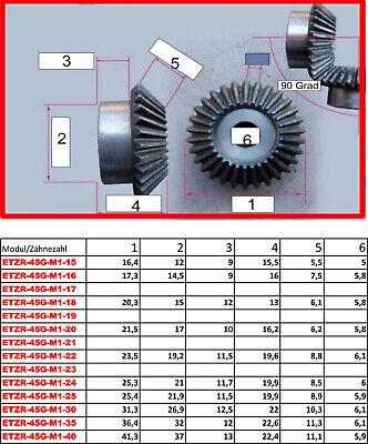 ETZR-45G-M1-35Z  Zahnrad Kegelrad Modul1 35 Zähne 45 Grad für Übersetzung 1:1