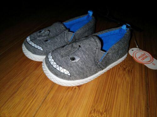 Wonder Nation pour bébé Boys /'Critter nageoires de requin Slip-On Baskets Chaussure 4