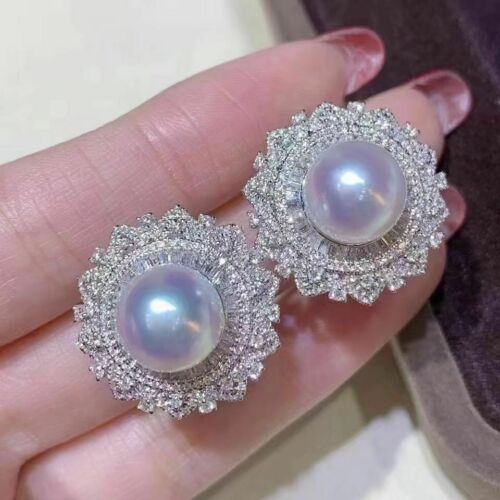 mm Details about  /classic  10-11mm south sea  white pearl earring 925s