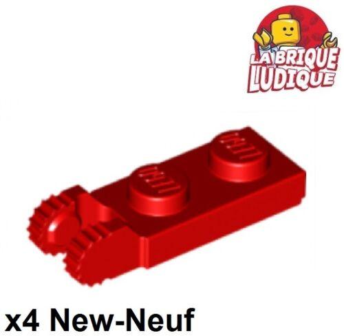 4x Charnière hinge plate lock 1x2 rouge//red 44302 44302b NEUF Lego