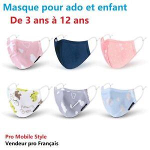 MASQUE-LAVABLE-coton-PROTECTION-RESPIRANT-ADO-COLLEGIEN-ET-ENFANT-filtre-a-90