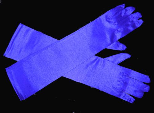 "Ivory//Black//Pink Satin Gloves Wedding//evening 15/"""