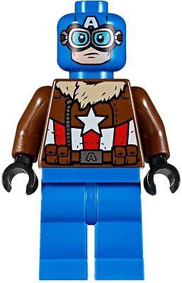 LEGO Marvel Super Heroes Pilot Captain America Minifigure 76076 Mini Fig