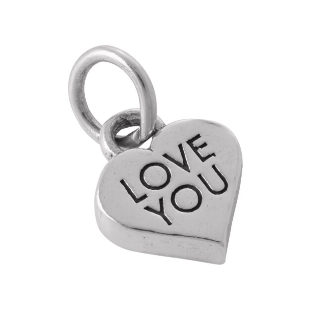 925 Sterling Silver Love You Heart Charm
