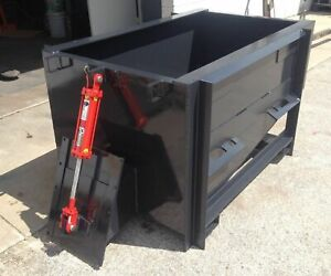 Skid Steer 1 Yard Side Chute Concrete Bucket Hopper Cement Bucket Ebay