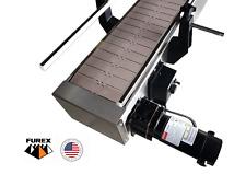 Furex Stainless Steel 8 X 75 Inline Conveyor With Plastic Table Top Belt