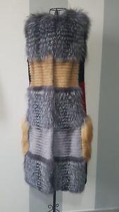 Vraie Femme Fourrure In Italy Manteau Smanicato S уба Pelliccia 50 m Vente De Made Taille Xqw4Iat
