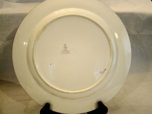 "Antique Minton Rose Bone China Dinner Plate 10/"" dia c.1918"