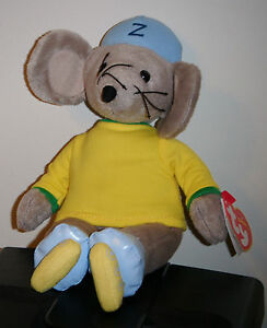 Ty Beanie Baby - ZOOMER the Mouse (UK Exclusive)(Rastamouse)(8.5 Inch) NEW