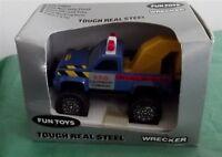 Vintage Remco Fun Toys 1987 Blue Wrecker Truck