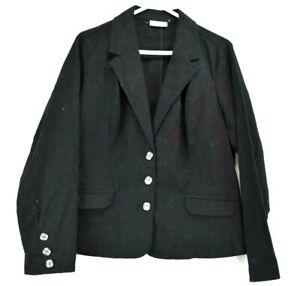 Croft /& Barrow stretch black women suit jacket size 14