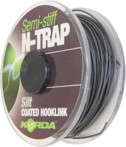 0,95€//1m Korda N-TRAP Semi Stiff 20m Karpfenschnur für Karpfe Vorfachschnur