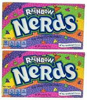 2 x Formally Wonka Rainbow Nerds Crunchy Candy Large Box 141.7g American Sweets
