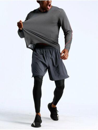 Herren Sportanzug Jogginganzug Dreiteiler Tracksuit Laufset Laufhose Laufshirt