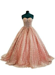 Sweet 16 Pink Glitter Quinceanera Dress 2020 Girl Party Princess Prom Ball Gown