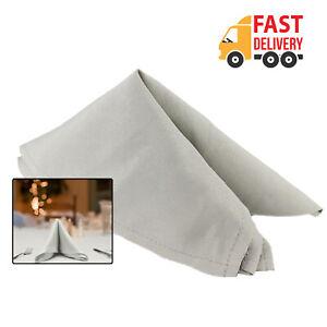 Gray-en-tissu-uni-polyester-serviettes-de-table-de-fete-tissu-Lin-Diner-Decoration-1pc