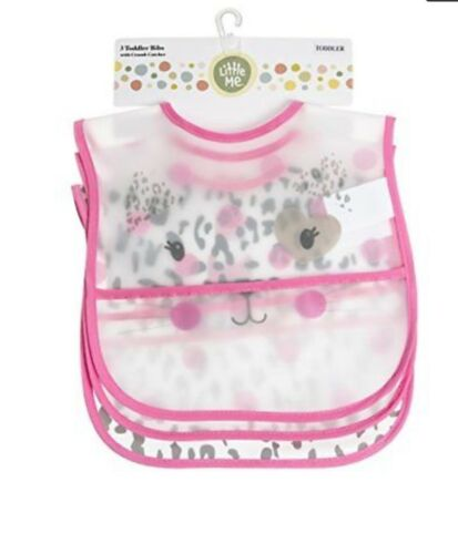 0-12 months 3 pk Toddler Bibs with Crumb Catcher