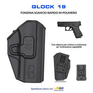Fondina-in-Polimero-per-Glock-19-sgancio-rapido-cintura-polizia-militare