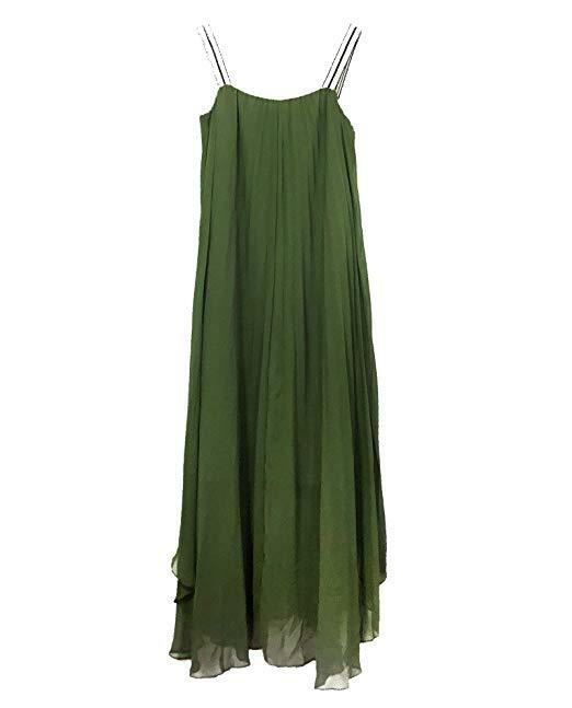 ZARA KHAKI PLEATED DRESS Größe M