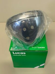 Genuine-Lucas-Headlamp-Shell-and-Rim-54526651-Triumph-Norton-Express-Post