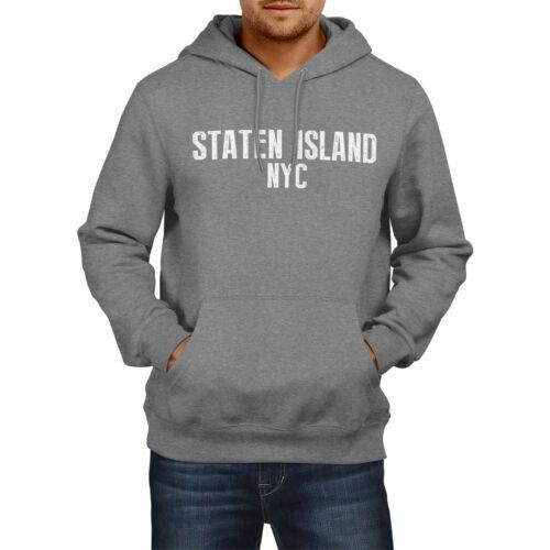 Staten Island NYC American stato Felpa con cappuccio Uomo Donna Ragazzi Ragazze USA NEW YORK CITY