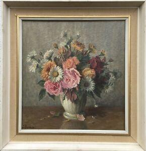 Impressionist-c-Reder-FLOURISHING-FLOWERS-STRAUSS-Oil-Painting-51-x-48-cm