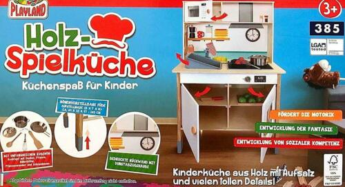 NEW BOXED Toy Kitchen with Accessories CA 69×103×33 CM Playland Wood Game Kitchen