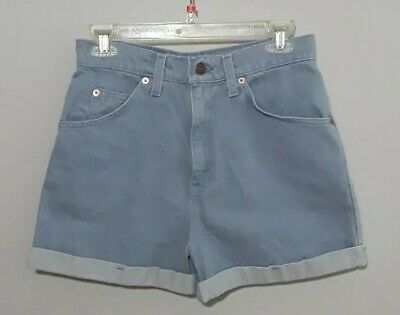 Tagged Size 9 Women/'s Size 29 inch Waist Vintage High Rise Orange Tab Denim Jean Shorts Stitched Cuff LEVI/'S 954