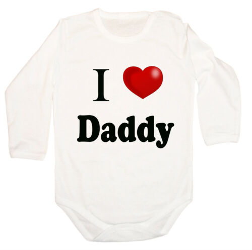 BODYSUIT KURZARM // LANGARM I Love DADDY 3 Heart BABY BODY