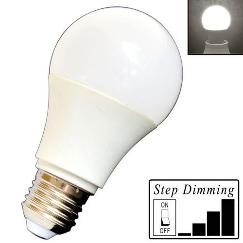 E27 LED Birne 9 Watt dimmbar 4-Step dimming tageslichtweiß dimmen ohne Dimmer