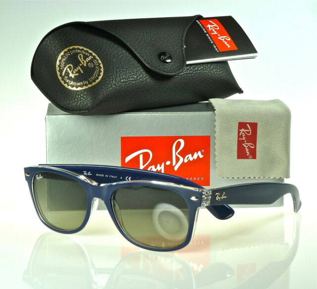 48aaf4c64823 ... ireland ray ban new wayfarer rb2132 605371 55mm matte blue transparent  grey gradient 8ee07 508c1