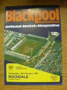 10021982 Blackpool v Rochdale  Team Changes Item In very good condition unl - Birmingham, United Kingdom - Returns accepted within 30 days after the item is delivered, if goods not as described. Buyer assumes responibilty for return proof of postage and costs. Most purchases from business sellers are protected by the Consumer Contr - Birmingham, United Kingdom