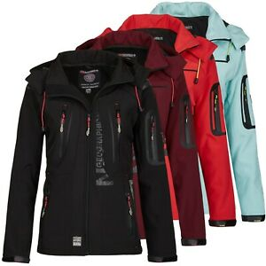 Geographical-Norway-Tislande-Damen-Softshelljacke-Softshell-Regen-Jacke-S-XXL