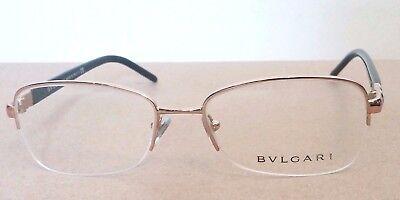 BVLGARI Eyeglasses Black and White Chrome Style 2178 ($329 Retail) Leather Box