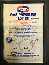 2 Uniweld 45506 Gas Pressure Test Kits