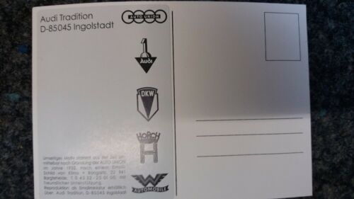 Postkarte 105 x 150 mm /&Autoaufkleber AUTOUNION  1 Audi  Audi Dienst