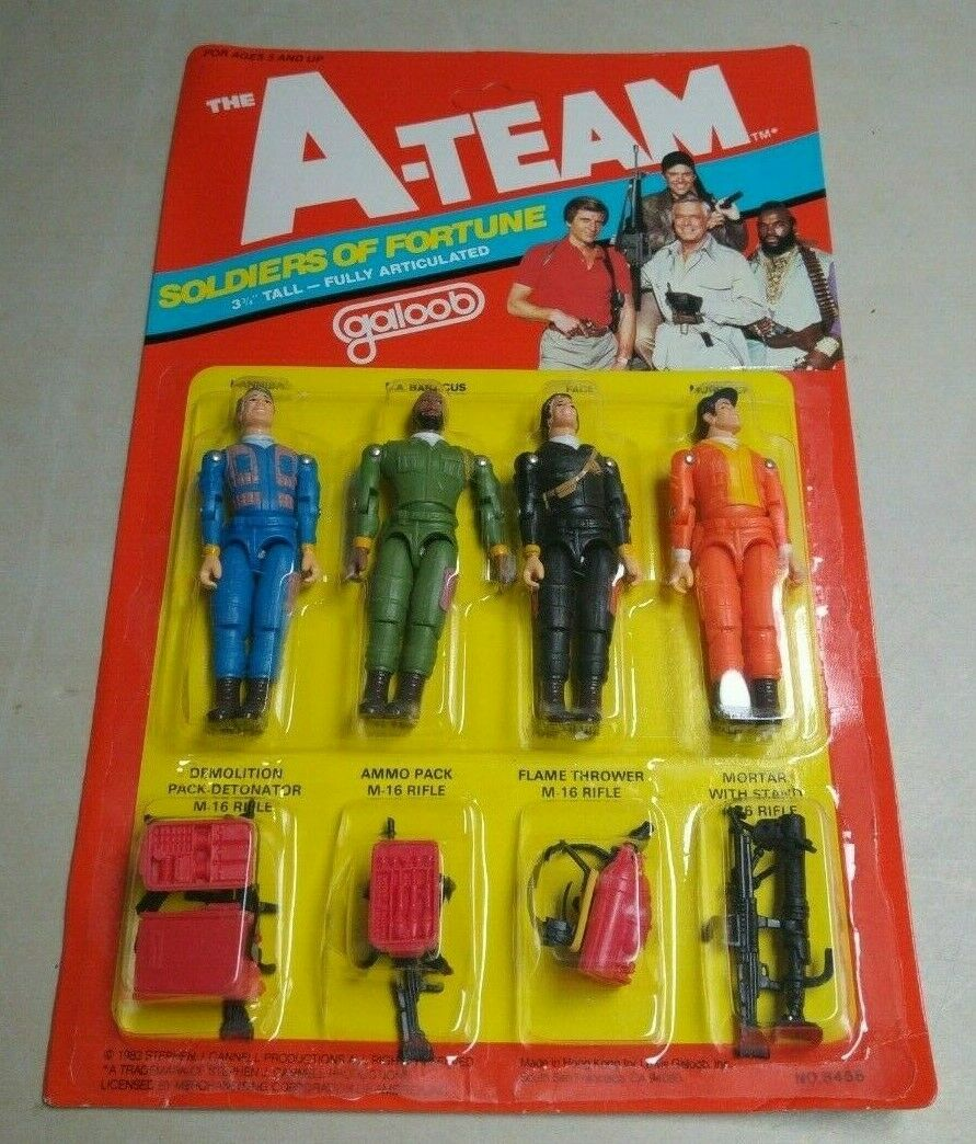 THE A-TEAM SOLDIERS OF FORTUNE GALOOB VINTAGE RETRO TOY MOC