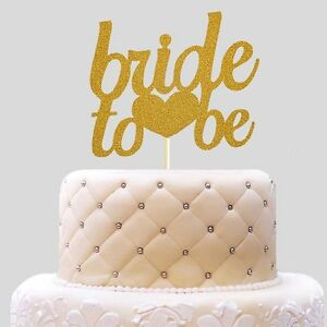 Image is loading Bride-To-Be-Glitter-Wedding-Cake-Decoration-Bridal- & Bride To Be Glitter Wedding Cake Decoration Bridal Shower Cake ...