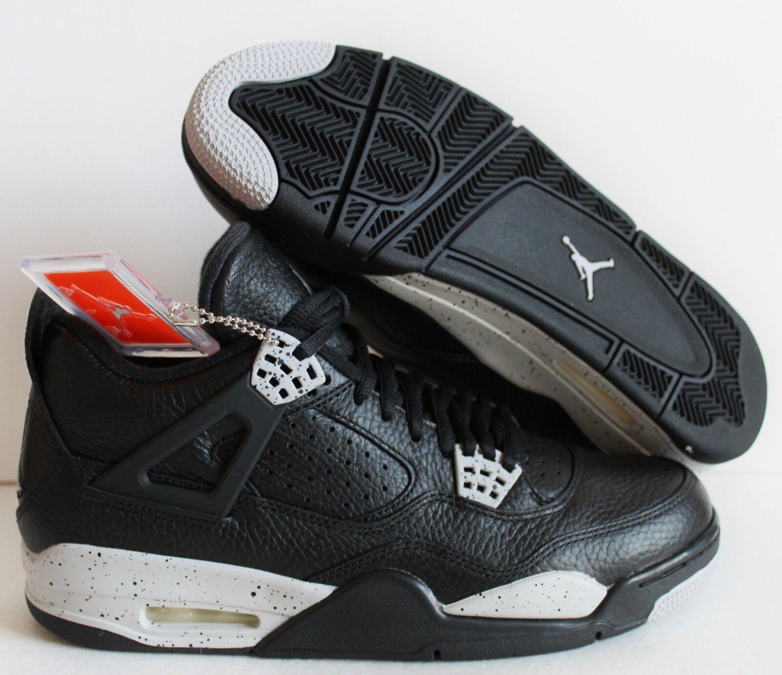 Nike air jordan 4 retro ist schwarz-tech Grau-schwarz sz 16 keks![314254-003]
