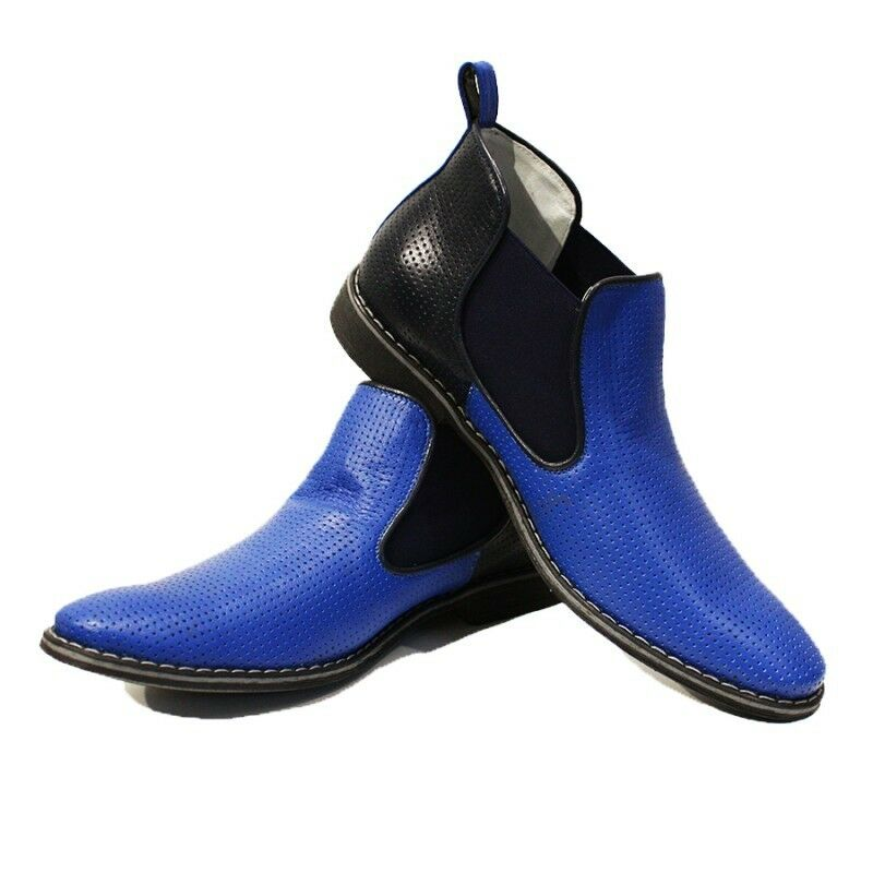 Modello Giacobbe - Handmade Colorful Italian Leather Shoes Chelsea Boots Black