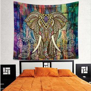 Indisch-Elefant-Mandala-Tapisserie-Wandteppich-Wandbehang-Yoga-Matte-Home-Deko