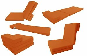 Details About Orange Foldable Cushion Foam Mattress 83 X 27 X 3 Sleep Folding Bed Mat