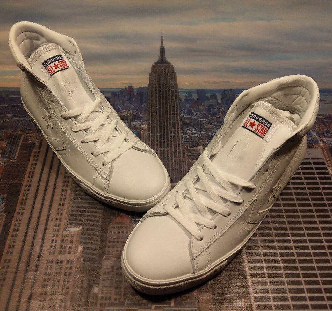 Converse Pro Size Leather Mid White/White Men's Size Pro 11 136764c New dab62e