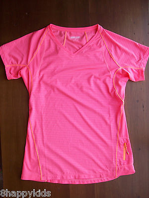 NWT Womens KIRKLAND Blue Exercise Active Fitness Running T Shirt Size S Small